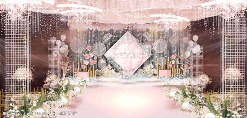 高端婚礼舞台效果图图片