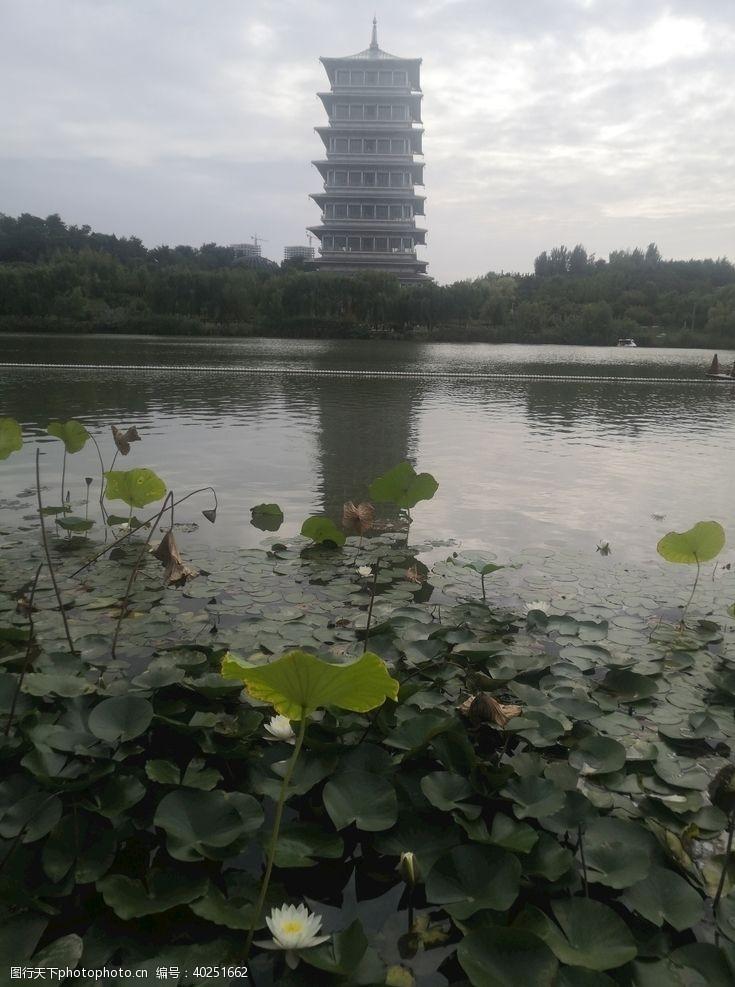 风景名胜西安世博园长安塔图片