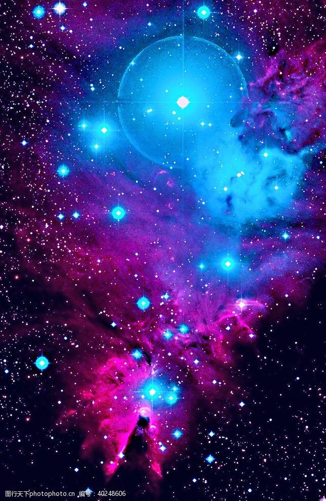 发光星空图片