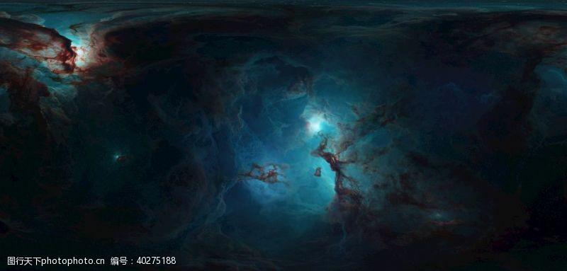 青色星空图片