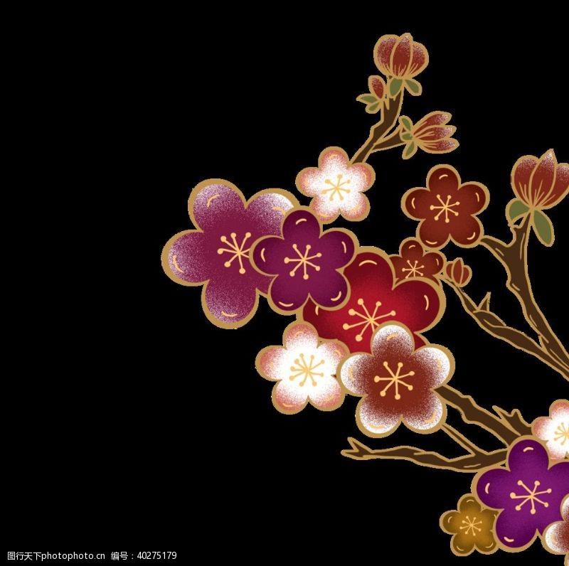 植物花草装饰梅花图片