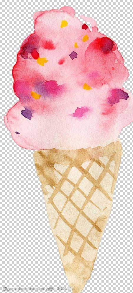 手冰激凌图片