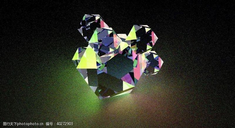 钻石C4D阿诺德焦散效果图片