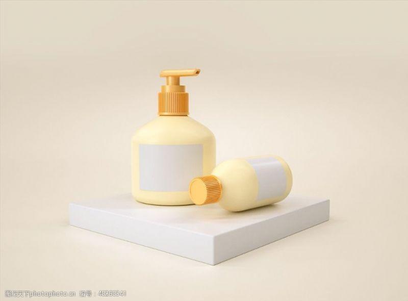 C4D模型洗发水沐浴露洗面瓶图片