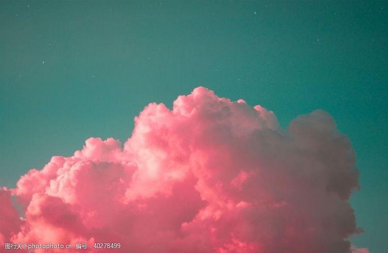 云彩彩色的云图片