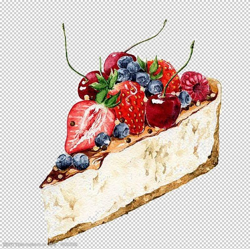 手草莓蛋糕图片