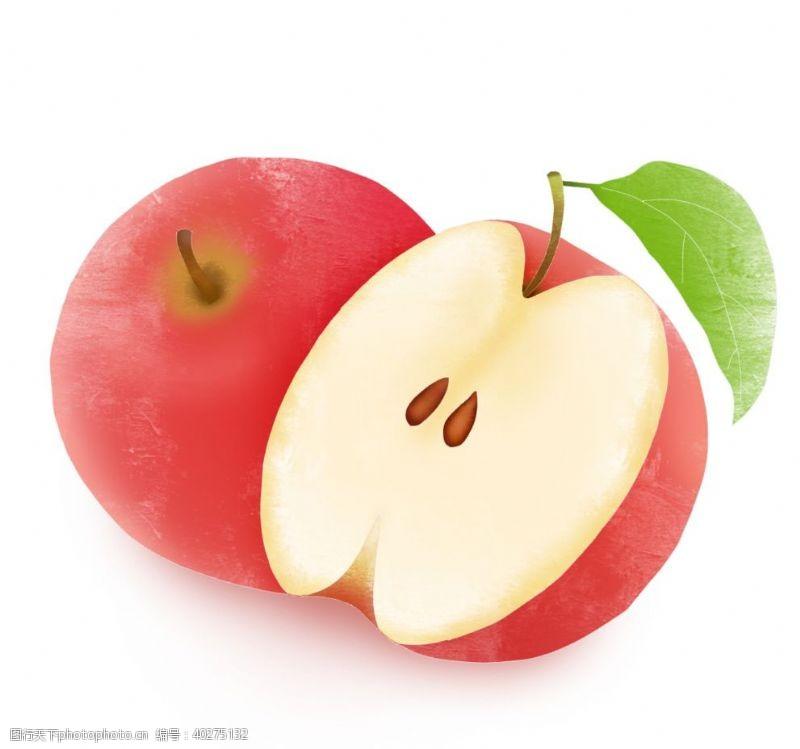矢量水果创意卡通手绘新鲜水果苹果元图片