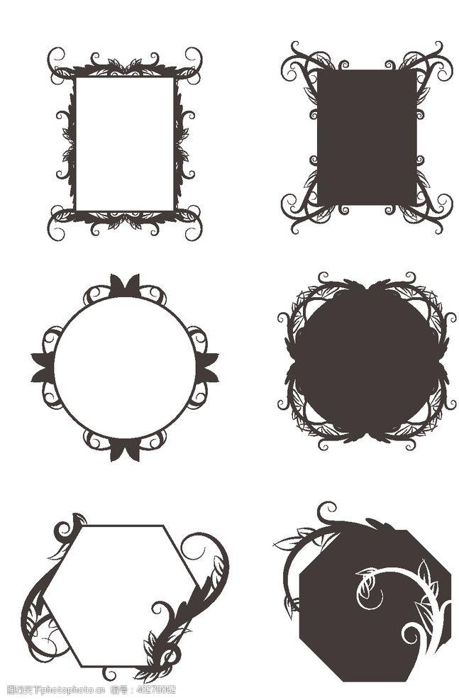 蕾丝花边创意欧式花纹边框图片