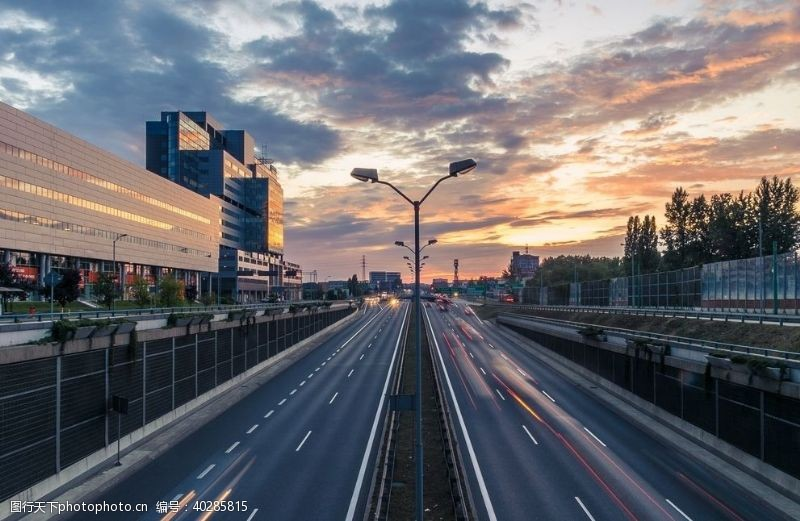 地标道路城市图片
