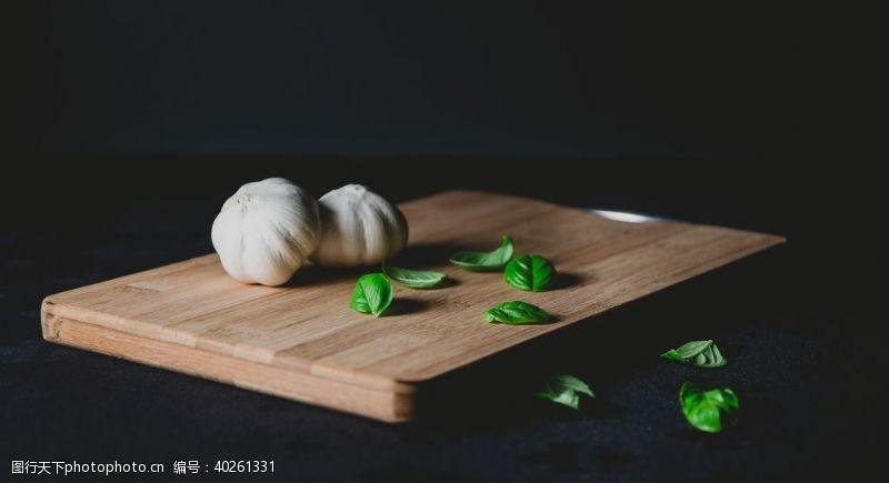 食物原料大蒜图片