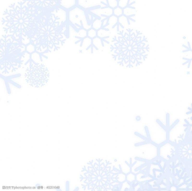 卡通素材冬天雪花图片