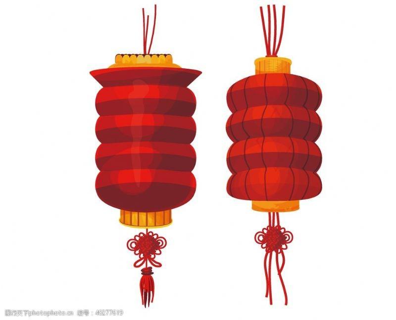 蝴蝶结红色灯笼图片