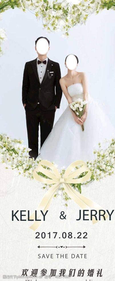 影楼婚礼展架图片