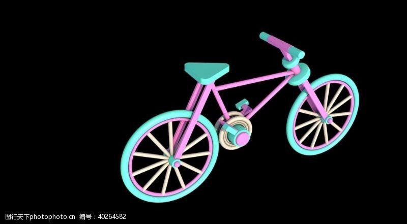 简单自行车模型图片