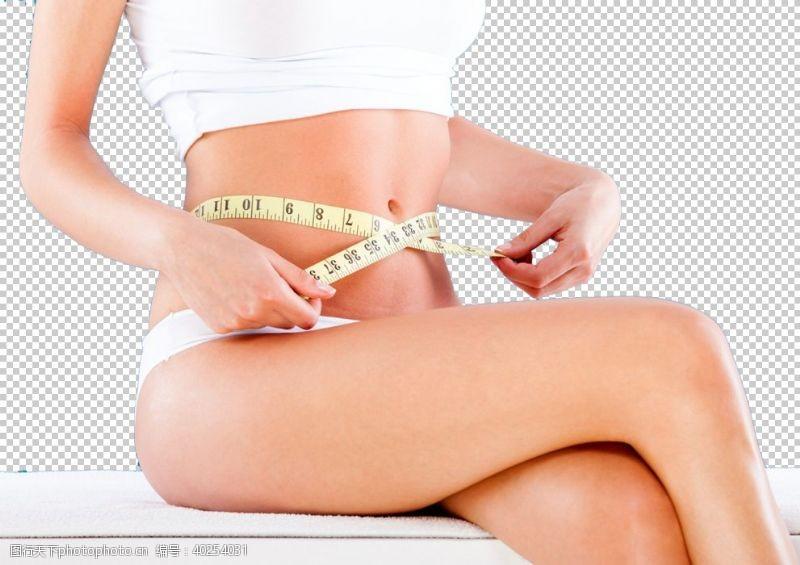 减肥美女减肥瘦身整形美女模特PNG图片