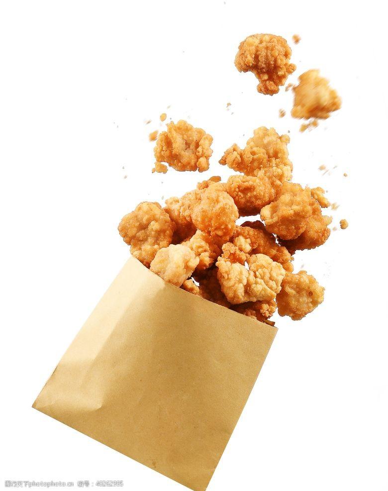 爆浆鸡排鸡米花油炸烧烤烤肉美食图片