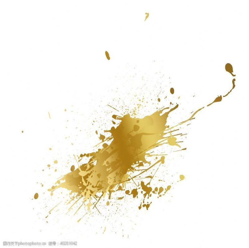 装饰元素金色喷洒元素图片