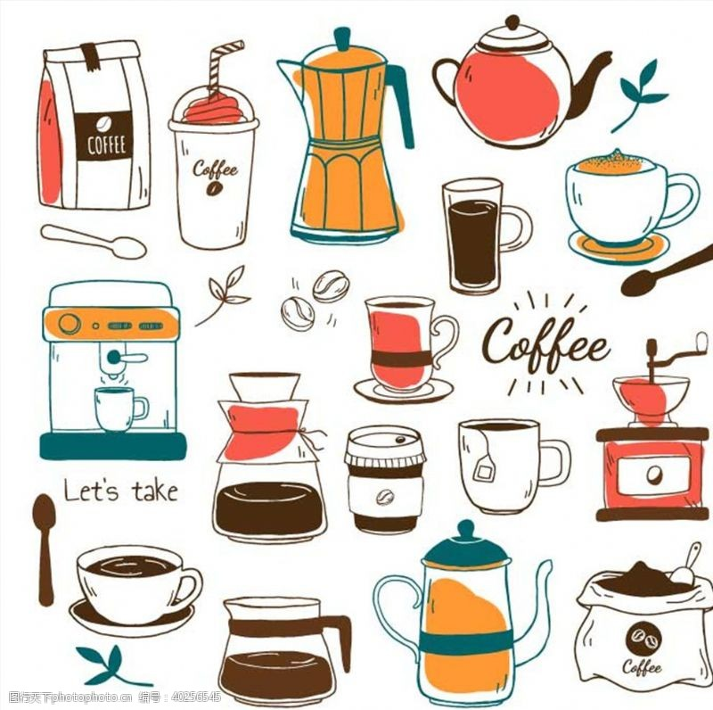 杯子设计咖啡图片