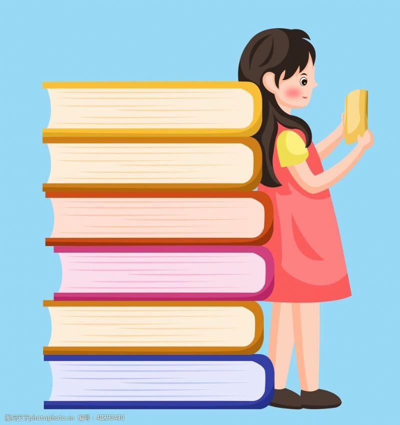 看书女孩图片