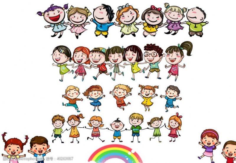 人物素材卡通儿童素材图片