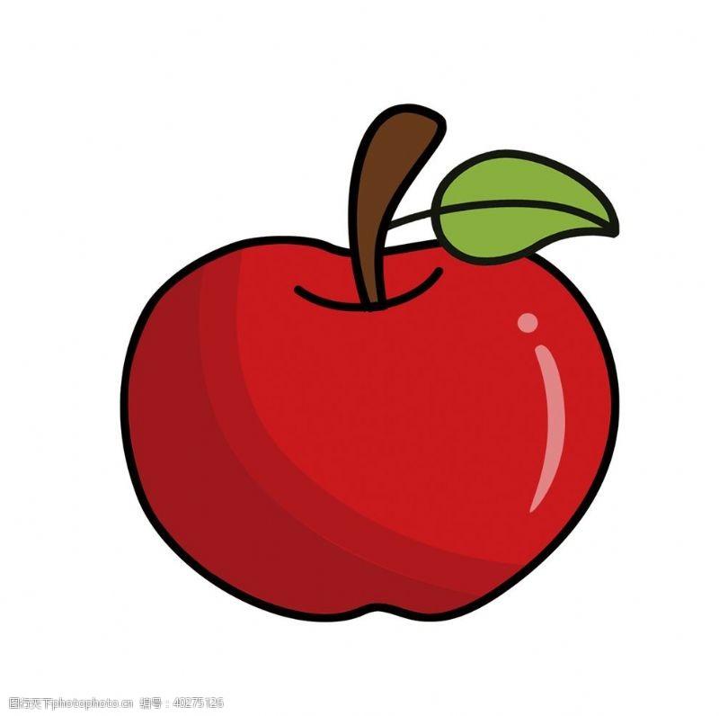 矢量水果卡通红苹果素材图片