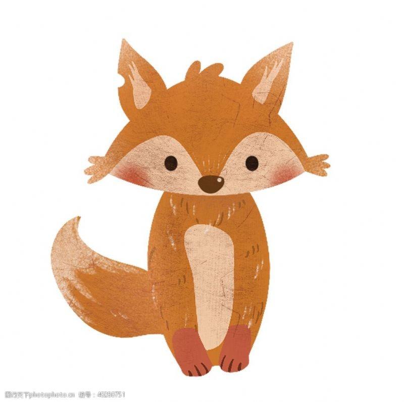 线描卡通简约狐狸免图片