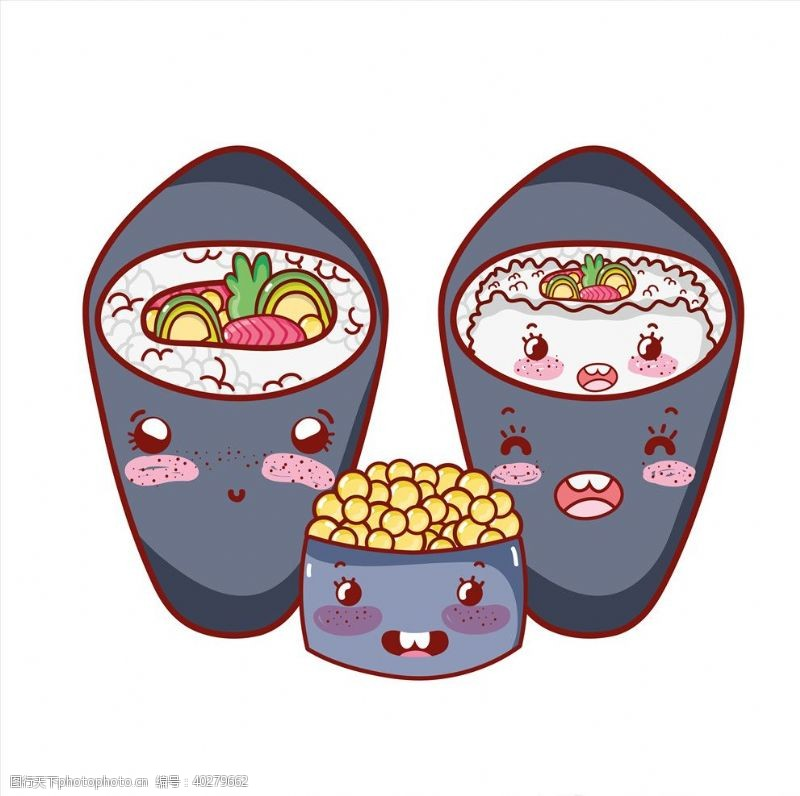 海鲜食品卡通日本寿司图片
