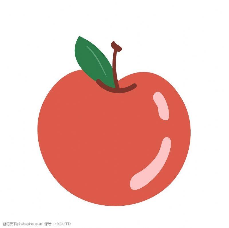 矢量水果卡通手绘苹果素材图片