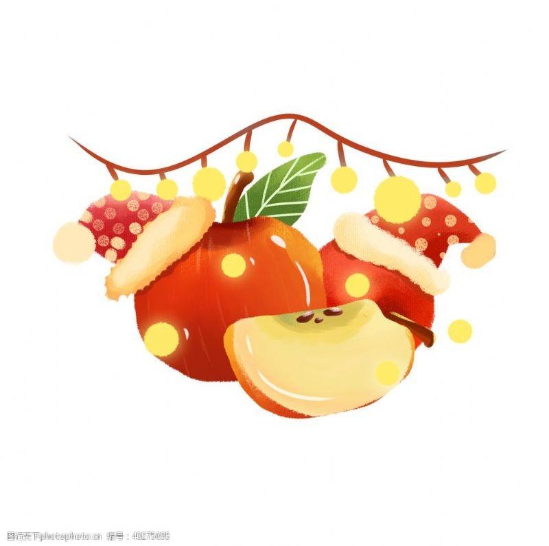 装饰素材卡通手绘苹果图片