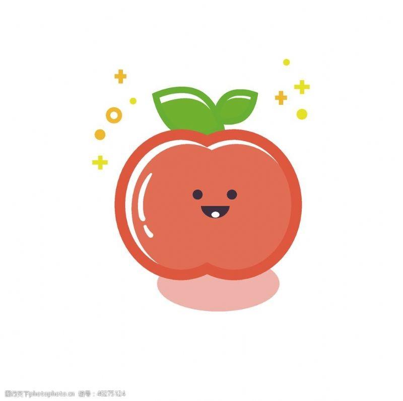 矢量水果卡通手绘苹果图片