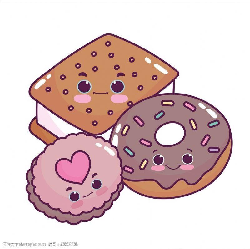 饮食卡哇伊甜品图片