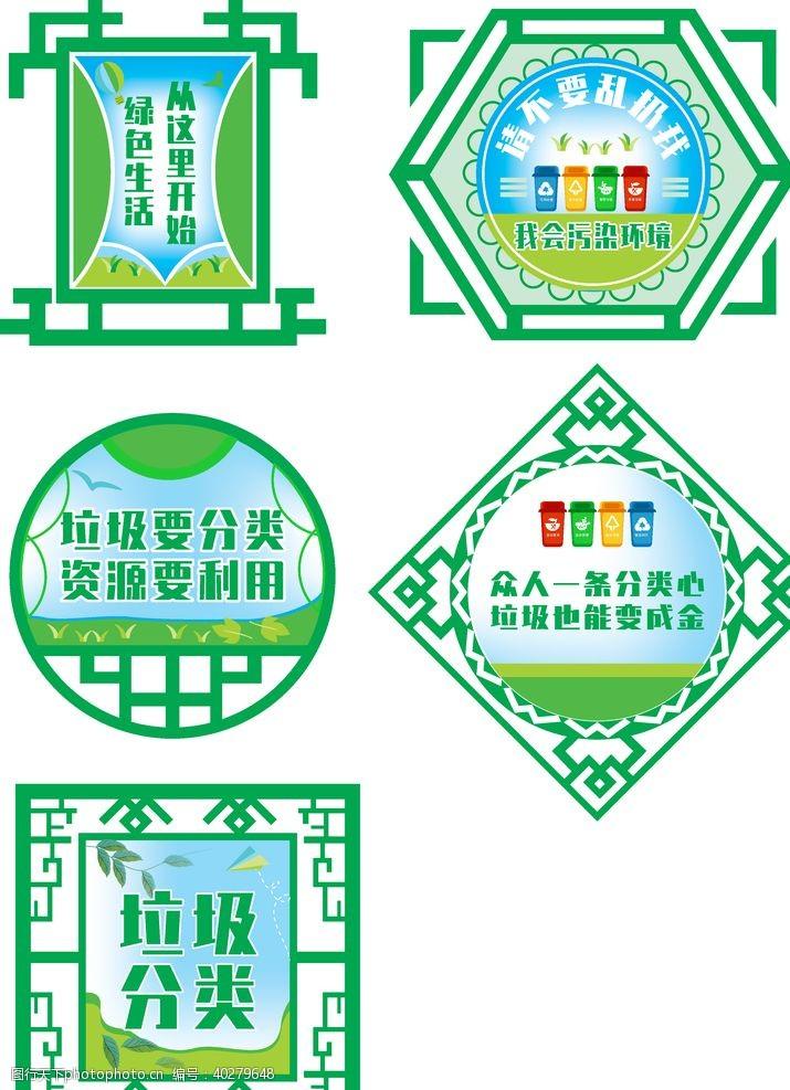 分类标识垃圾分类异形标识牌图片
