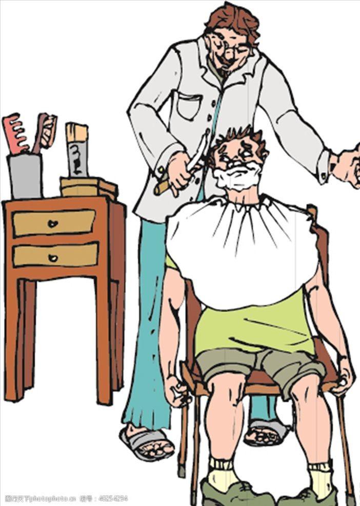 理发店广告理发师图片