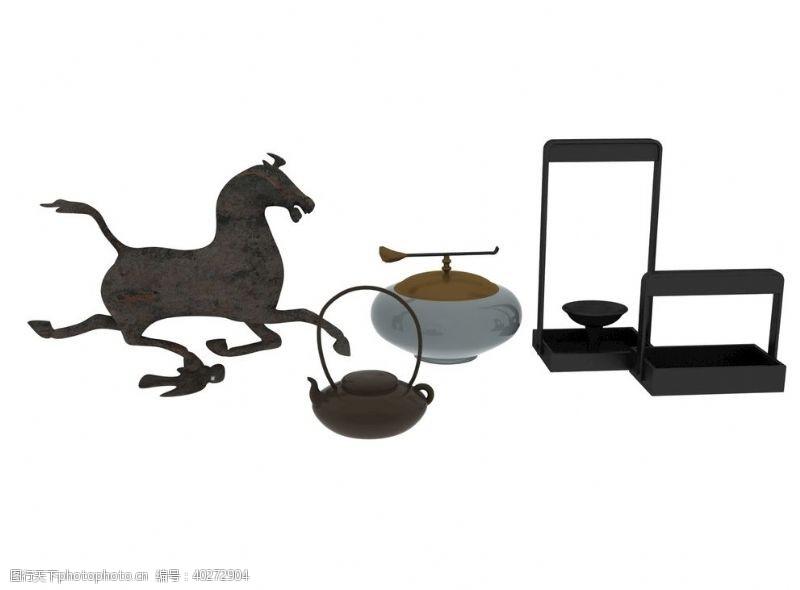 马踏飞燕装饰品3d模型图片
