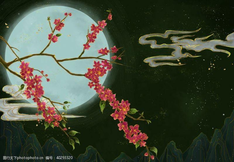 装饰画梅花中国风图片