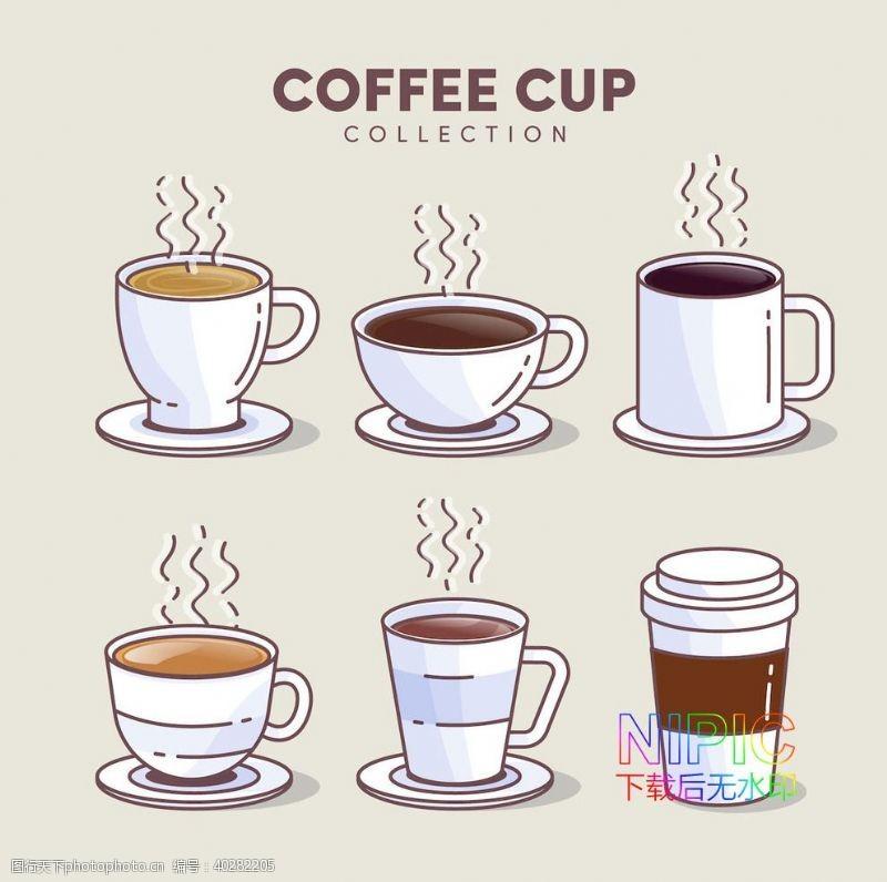 矢量背景模板文件格式咖啡厅一杯咖啡图片