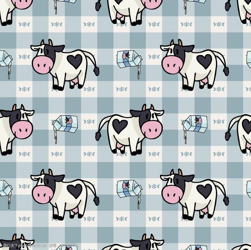 服装面料牛牛年奶牛公牛斗牛牧场图片