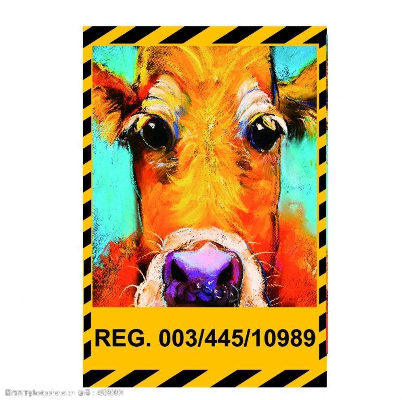 吉祥物牛牛年奶牛公牛斗牛牧场图片