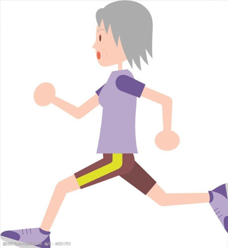 男人跑步图片
