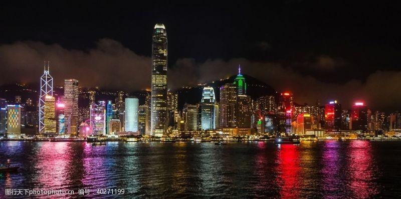 城市景观商业都市夜景图片