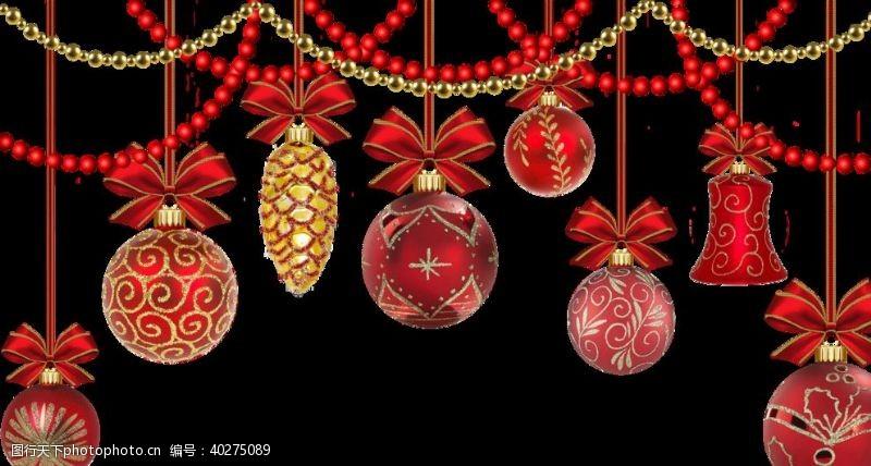 其他素材圣诞挂饰元素图片