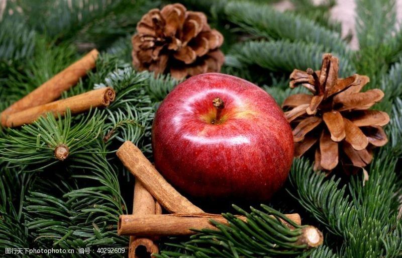 雪花圣诞节苹果图片