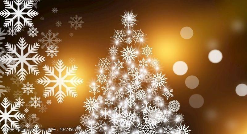 圣诞装饰圣诞雪花背景图片