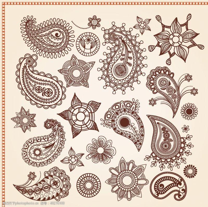 花纹花边矢量传统吉祥图腾花纹图片