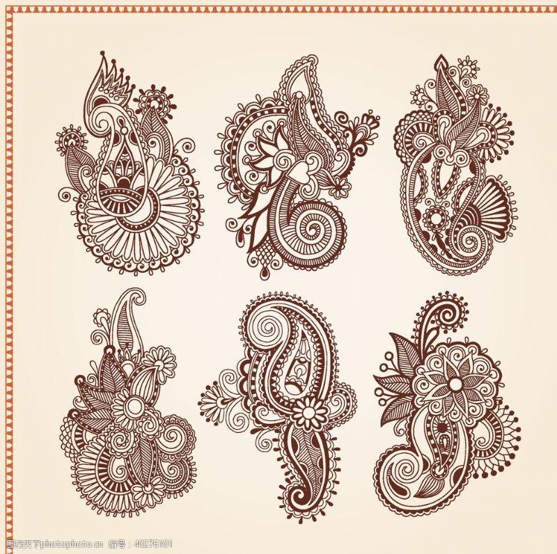 地毯矢量传统吉祥图腾花纹图片