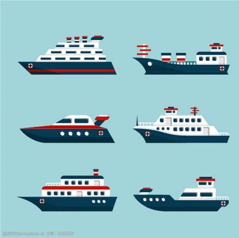 一帆风顺矢量船只图片