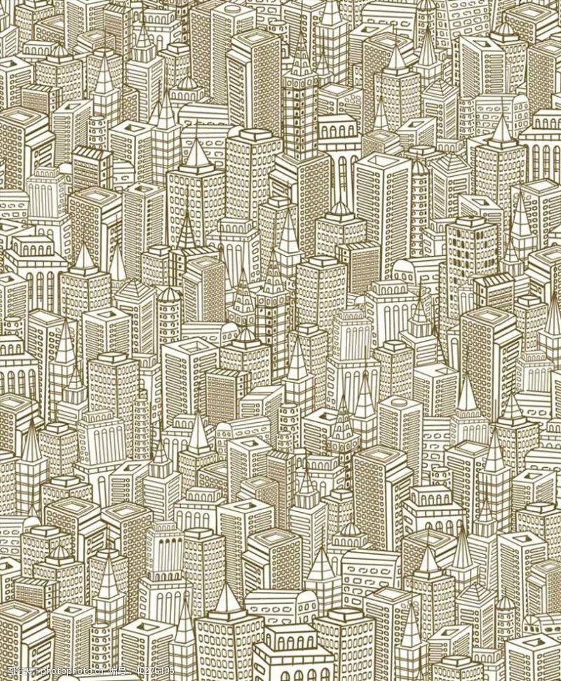 城市背景手绘城市图片