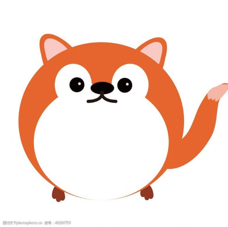 线描手绘可爱狐狸小动物边框贴纸图片