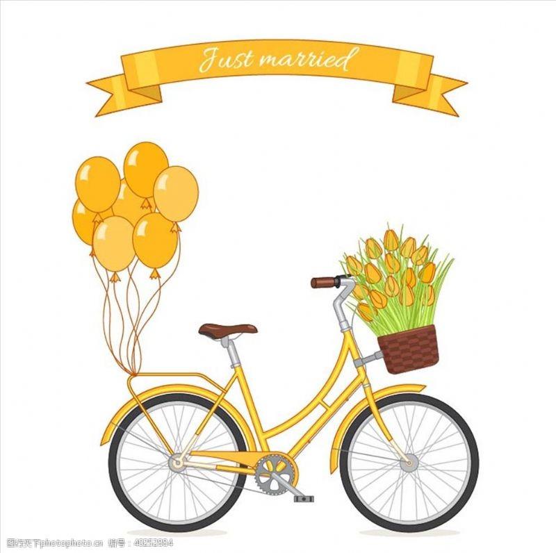 手绘自行车图片