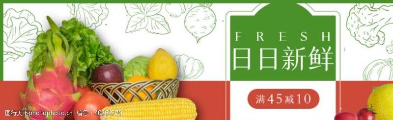 大蒜水果蔬菜banner图片